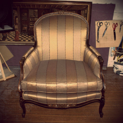 Example realisation fauteuil Louis XV